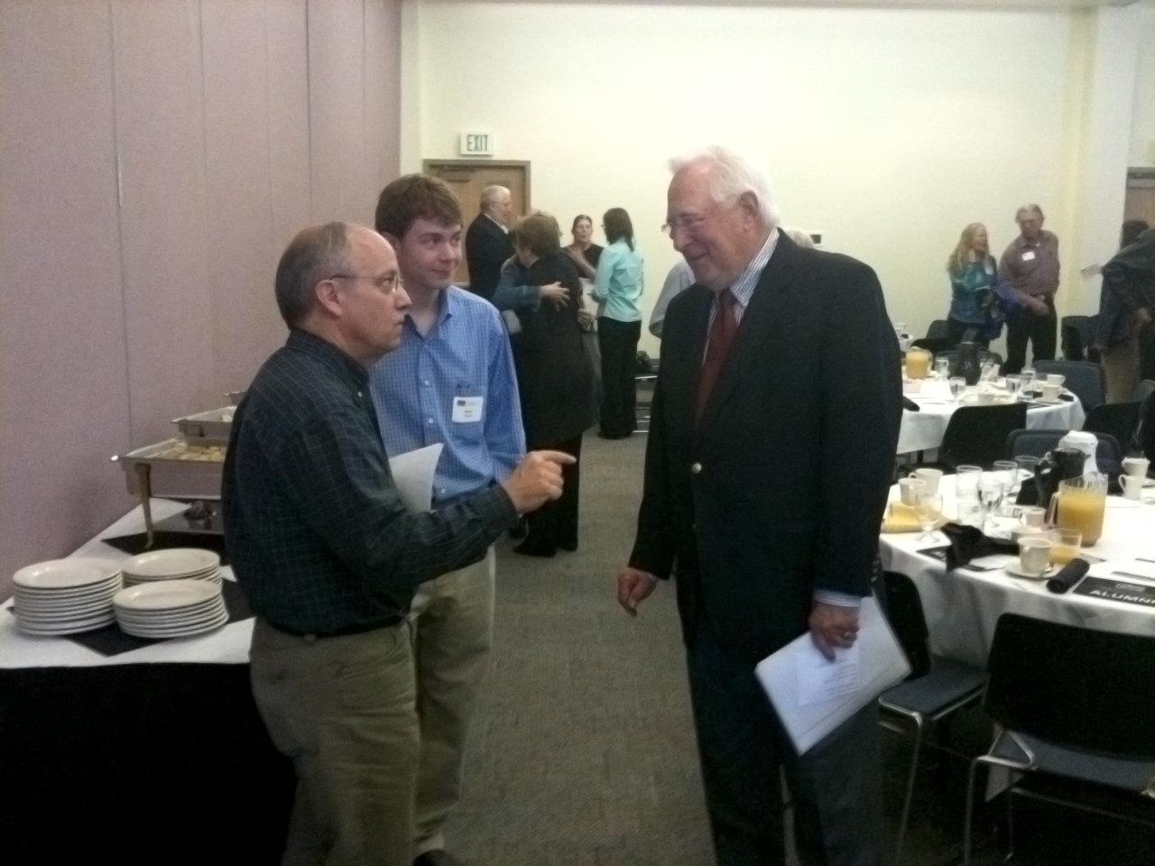 John Buechner talks with UCCS alumni