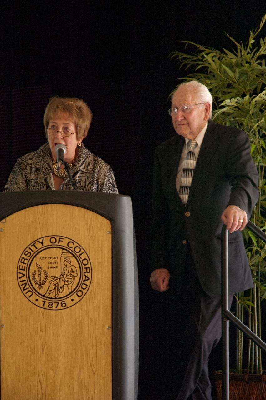 Chancellor Shockley-Zalabak and Paul Ballantyne