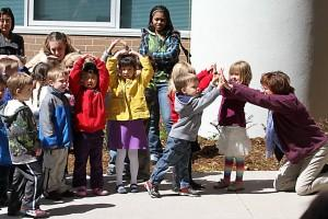 Children from the UCCS FDC at the unveiling