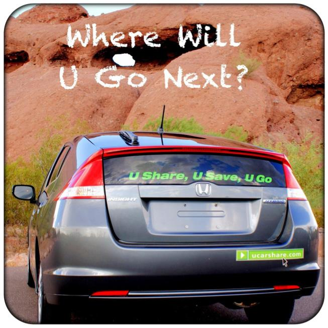 U Car Share promo graphic - Where Will U Go Next?
