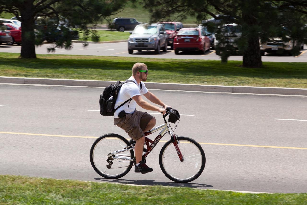 Student bikes to school