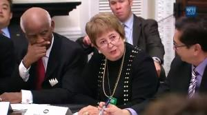 Chancellor Pam Shockley-Zalabak at the Whitehouse