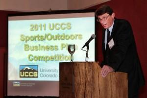 Tom Duening at the 2011 Business Plan Competition