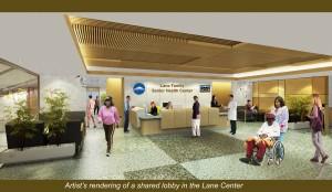 Peak Vista interior lobby artist rendering