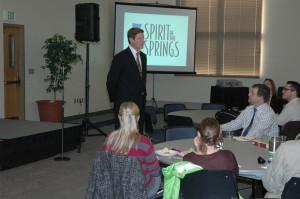 Mayor Bach gives presentation at UCCS