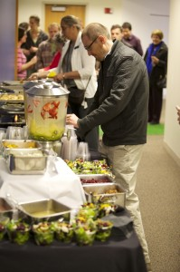 Attendees were treated to a number of food items by Sodexo to highlight recent changes to the UCCS food supply.