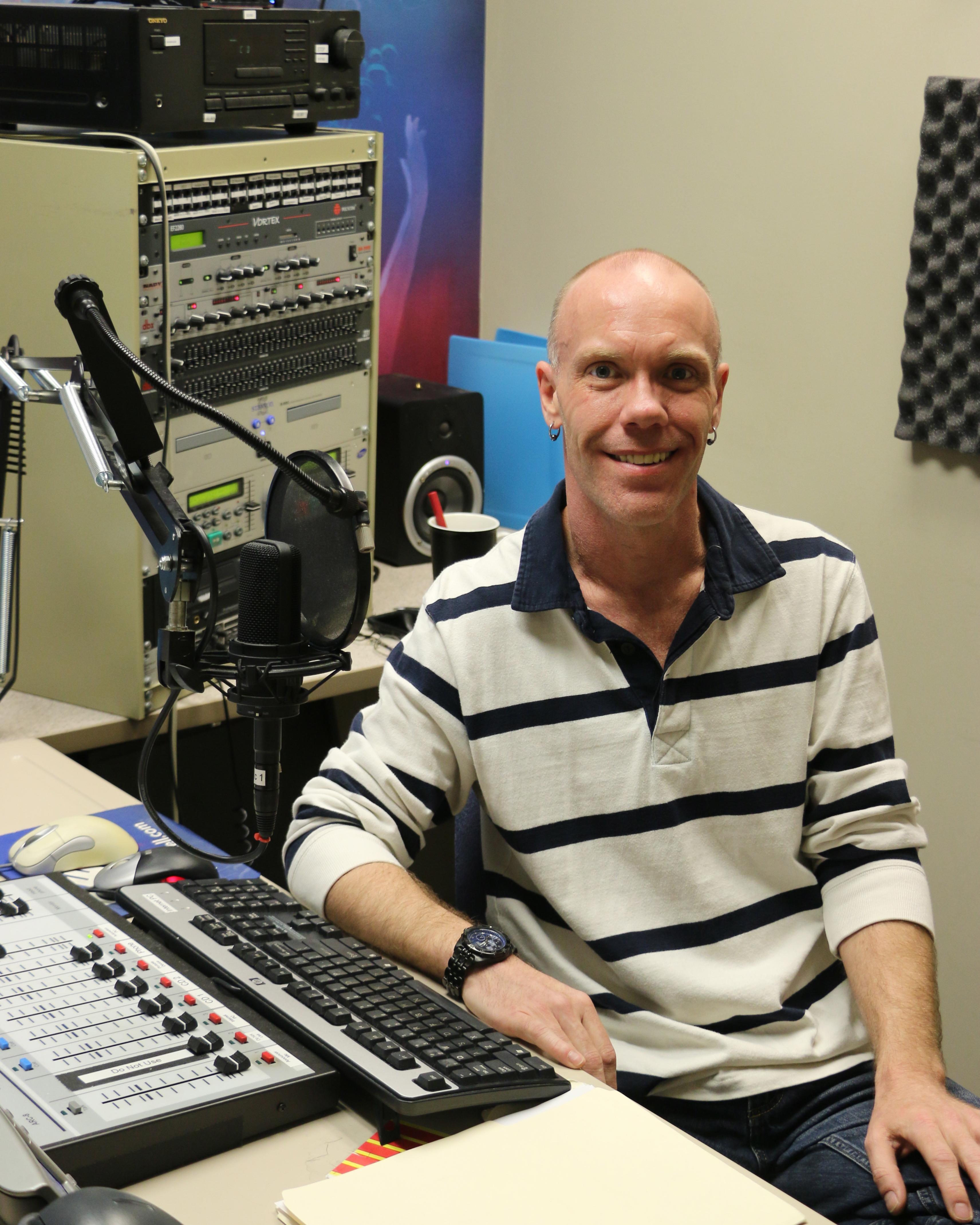 Ben Sloan in the UCCS Radio studio