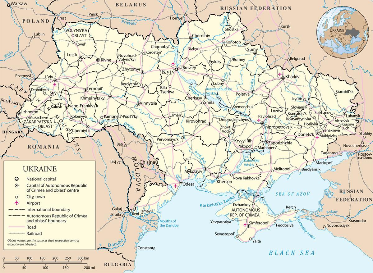 Map of Ukraine - Lonely Planet