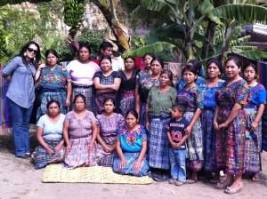 """Ivette Aldana, left, with members of the Cooperative """"Mujeres artesanas trabajando juntas,"""" one of 11 organizations that work with the Casa de Cervantes in fair and solidary trade initiatives."""