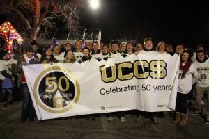 UCCS students, faculty and staff led the 2014 Colorado Springs Festival of Lights.