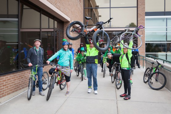Photo feature: St. Patrick's Day bike ride