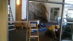 Construction underway in new SOLE office, photo courtesy of UCCS Campus Recreation