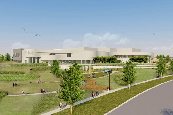 An artist's rendering of the UCCS Ent Center for the Arts.