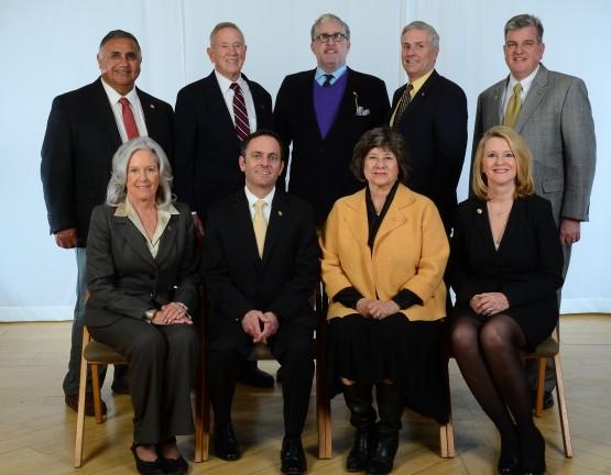 The nine members of the CU Board of Regents