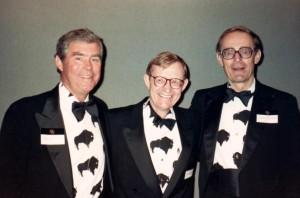 Charles McCord, left, former CU President Gordon Gee, and Clancy Herbst at a CU event in the late 1980s.