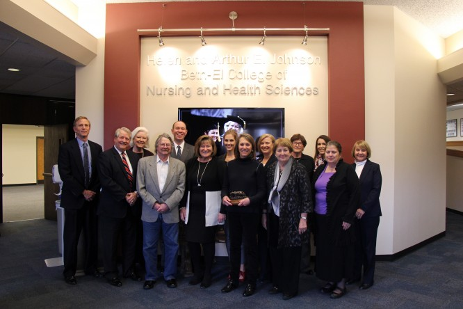 UCCS and Johnson Foundation leaders pose for a group photograph following a Nov. 6 luncheon.