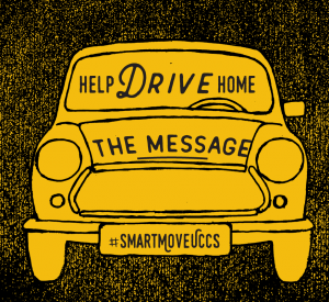 Stickers will be used to promote the Smart Move campaign.