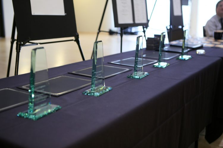 Faculty received awards for research efforts at an Oct. 19 celebration.