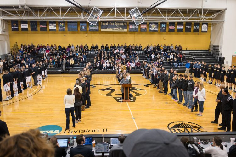 First Responders Appreciation Night in Honor of Officer Garrett Swasey opens the 2016-17 home men's basketball season Nov. 28, 2016. Photo by Tom Hutton, University of Colorado