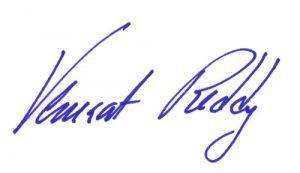 Signature of Venkat Reddy