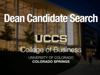 Graphic for dean of College of Business search