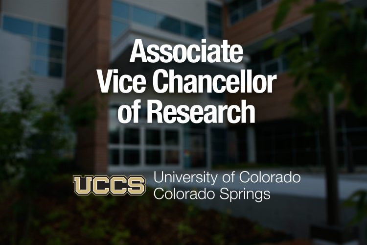 Graphic for associate vice chancellor for research