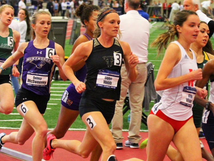 Skylyn Webb competes at the indoor national championships.