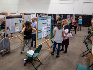 Students present during the 2018 Graduate School Research Showcase