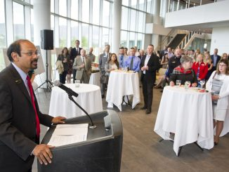 Chancellor Reddy speaks at an event June 19