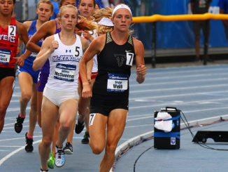 Skylyn Webb runs in the 800-meter run at the NCAA national championships
