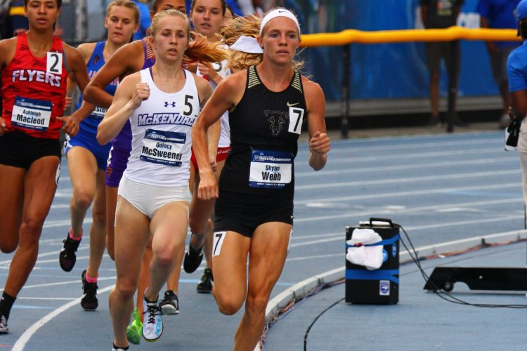 Skylyn Webb runs in the 800-meter run at the NCAA national championships