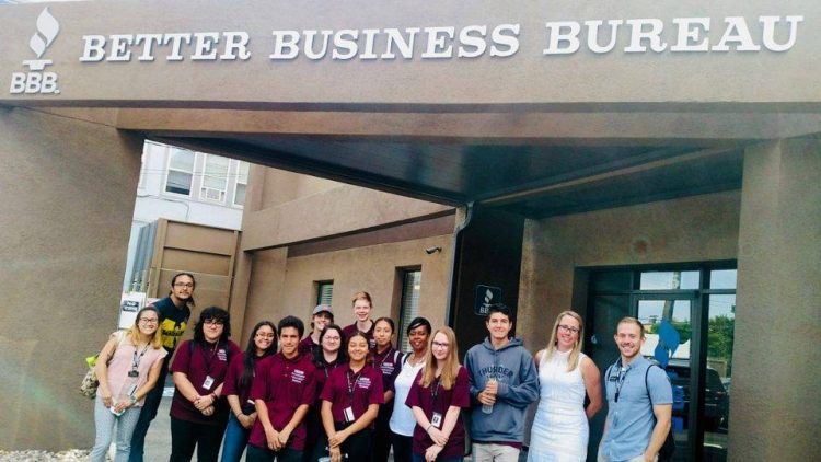 Pre-Collegiate Development Program students visit the Better Business Bureau