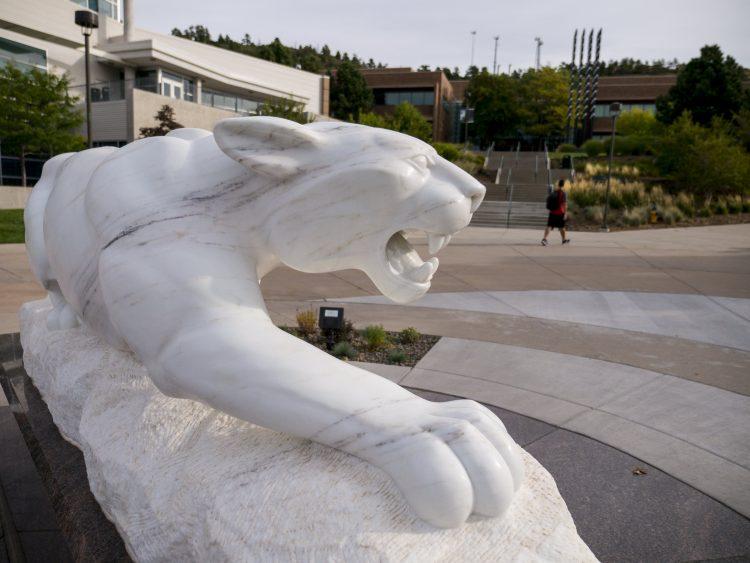 Mountain Lion statue on El Pomar Plaza