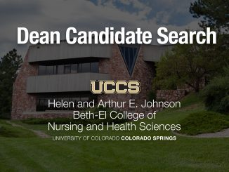 Nursing dean search graphic