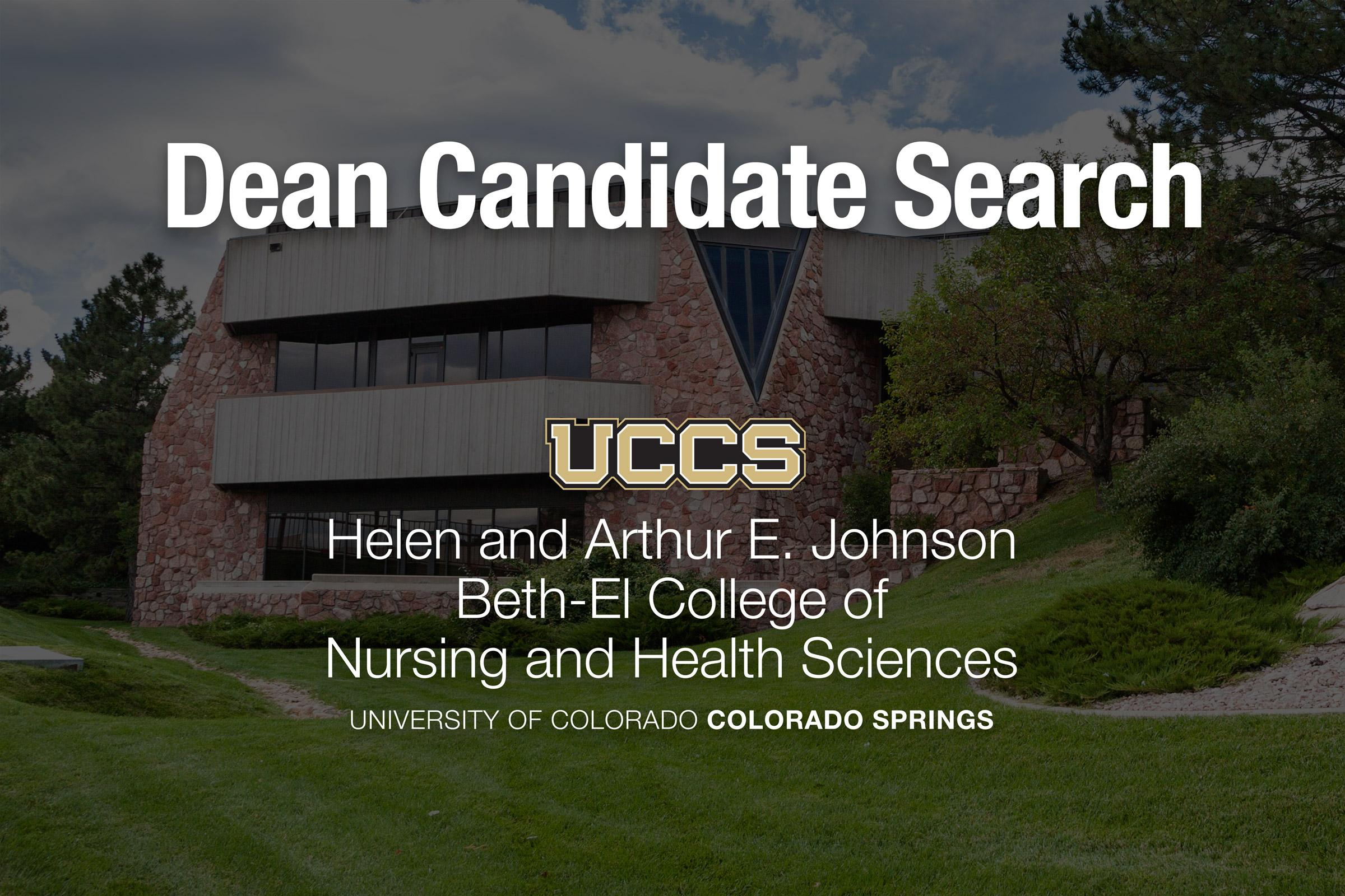 Search begins for nursing and health sciences dean – UCCS