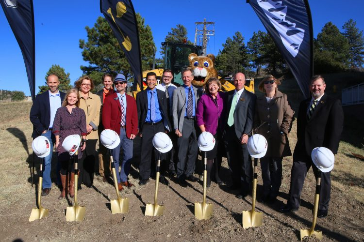 Deans and faculty at Hybl Center groundbreaking