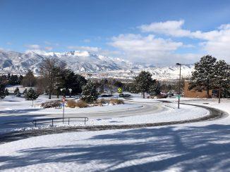 Campus snowfall