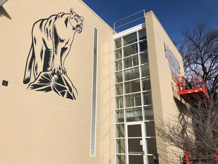 New Cragmor Hall mountain lion mural