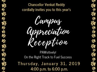 2019 Campus Appreciation Reception graphic