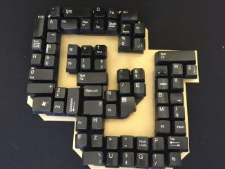 The CU logo made out of keyboard keys