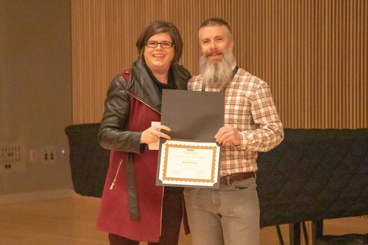 Shad Harner recognized as the Employee of the Quarter