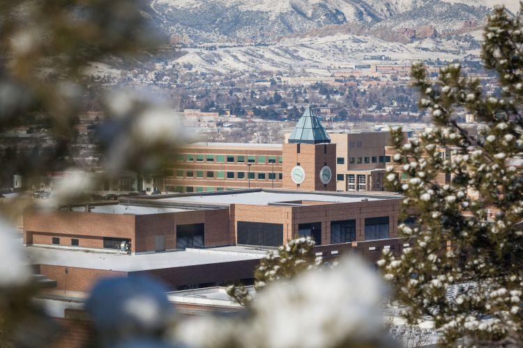 El Pomar Center in snow