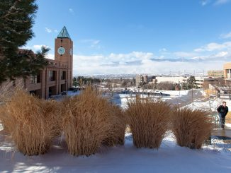 Campus during winter