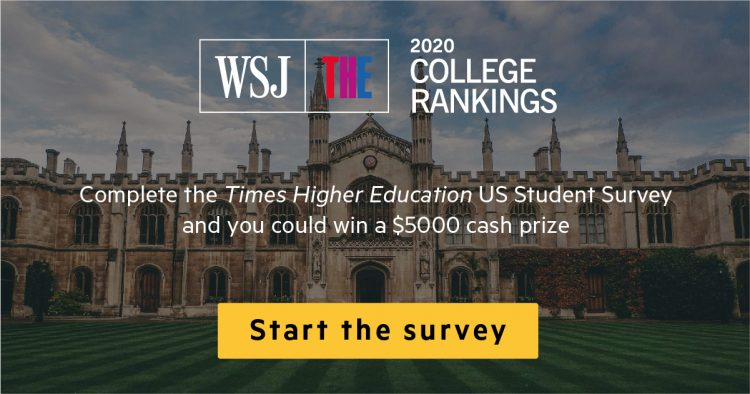 Wall Street Journal - Times Higher Education survey graphic