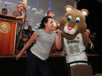 Missy Sernatinger dances with Clyde