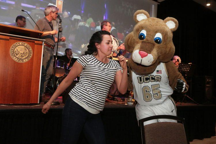 Michelle Toro Dietz dances with Clyde