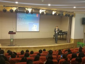 Yang Wei presents in China