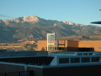 Pikes Peak in the morning