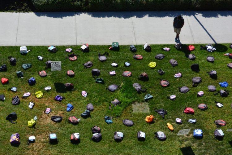 A student pauses at UC Santa Barabara