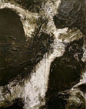 "Joshua Hardin, Cross, acrylic on canvas, 24x18"""